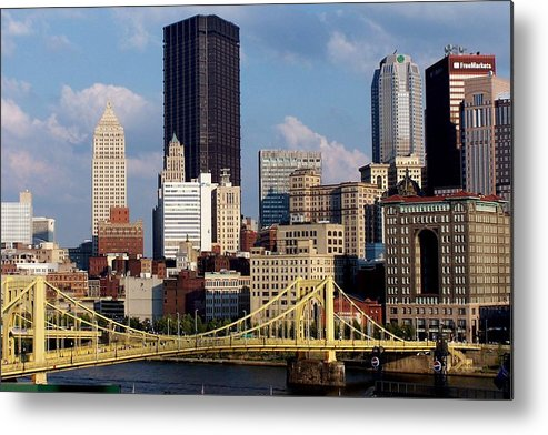 Downtown District Metal Print featuring the photograph Downtown Pittsburgh Panorama From Pnc by Photo By Paul D. Toth