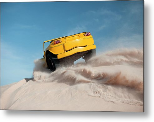 Dust Metal Print featuring the photograph Driving On Sand, Jericoacoara, Brazil by Tunart