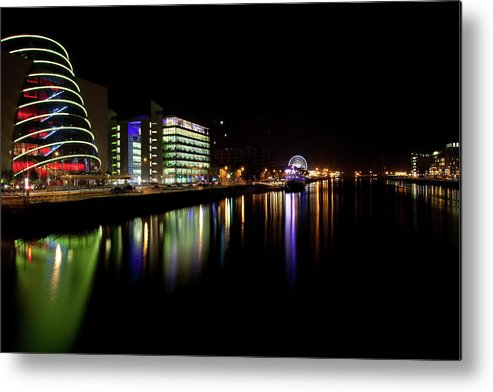 Dublin Metal Print featuring the photograph Dublin City Along Quays by Image By Daniel King