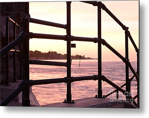 Railings Metal Print featuring the photograph Early Morning Railings by Andy Thompson