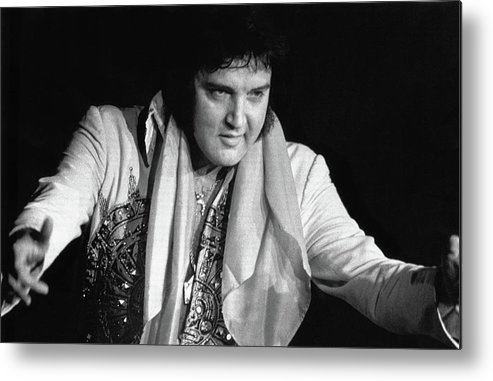Rock Music Metal Print featuring the photograph Elvis Presley Performing by Bettmann