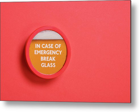 Coral Colored Metal Print featuring the photograph Emergency Beer by Andrew Paterson