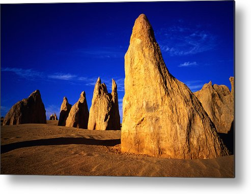 Toughness Metal Print featuring the photograph Eroded Rock Formations, Pinnacles by John Banagan
