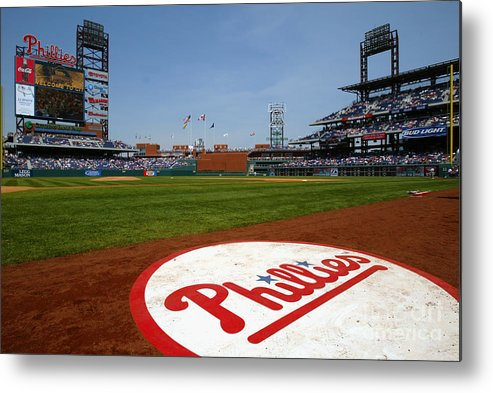 Scenics Metal Print featuring the photograph Expos V Phillies by Jamie Squire