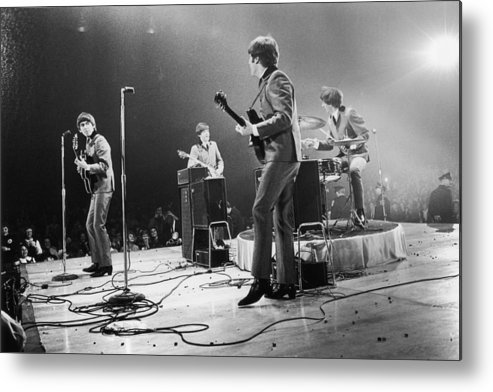 Singer Metal Print featuring the photograph Fab Four Stateside by Central Press