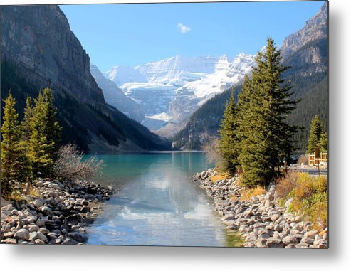 Tranquility Metal Print featuring the photograph Fall At Lake Louise , Alberta, Canada by Cynthia Russell Photography