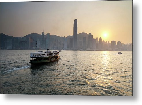 Chinese Culture Metal Print featuring the photograph Ferry Boat To Hong Kong by Simonbradfield
