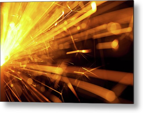 Funky Metal Print featuring the photograph Fire Sparkler by Nikada