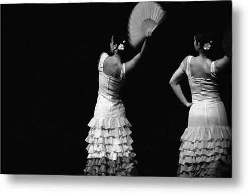 Ballet Dancer Metal Print featuring the photograph Flamenco Lace Fan by T-immagini