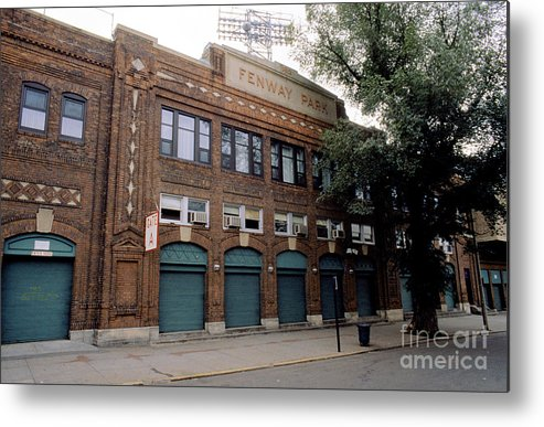 American League Baseball Metal Print featuring the photograph General View Of Outside Fenway Park by Rick Stewart