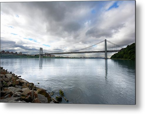 Part Of A Series Metal Print featuring the photograph George Washington Bridge, New York by Ryan Mcvay