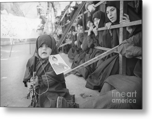 Child Metal Print featuring the photograph Girl With Toy Gun by Bettmann
