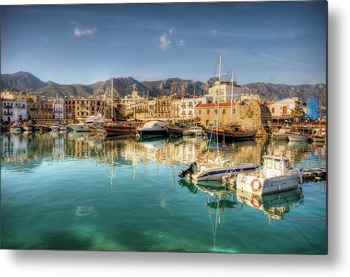 Tranquility Metal Print featuring the photograph Girne Kyrenia , North Cyprus by Nejdetduzen