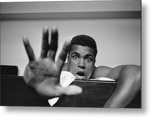 One Man Only Metal Print featuring the photograph Give Me Five by Len Trievnor