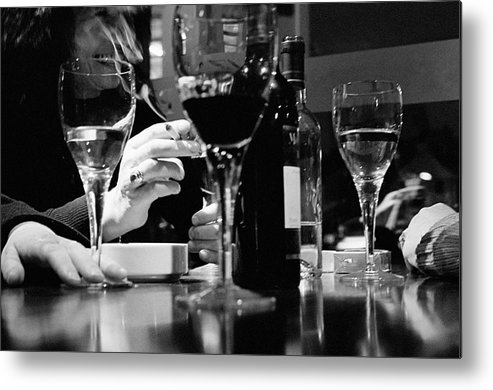 Smoking Metal Print featuring the photograph Glasses Of Wine by Matt Carr