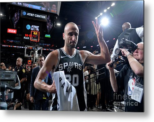 Playoffs Metal Print featuring the photograph Golden State Warriors V San Antonio by Mark Sobhani