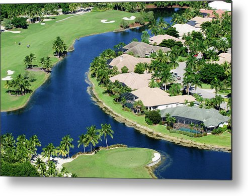 Recreational Pursuit Metal Print featuring the photograph Golf Course Community by Negaprion