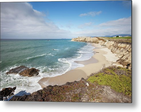 Water's Edge Metal Print featuring the photograph Half Moon Bay California by Stevegeer
