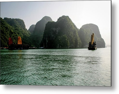Scenics Metal Print featuring the photograph Halong Bay by Rafax
