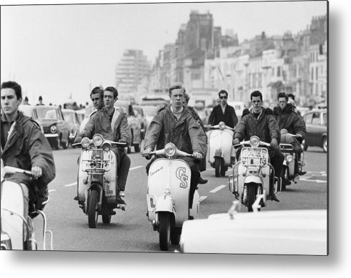 People Metal Print featuring the photograph Hastings Mods by Terry Fincher