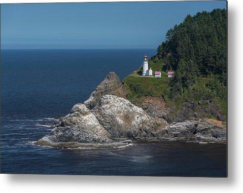 Scenics Metal Print featuring the photograph Heceta Head Lighthouse, Oregon Coast by Jeff Hunter