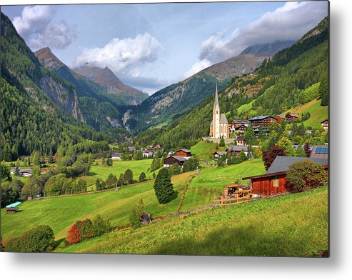 Scenics Metal Print featuring the photograph Heiligenblut by Photo By Claudia Domenig