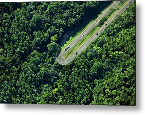 The End Metal Print featuring the photograph Highway U-turn In Forest by Thomas Jackson