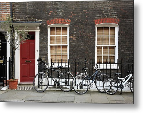 Row House Metal Print featuring the photograph House In London by Imagestock