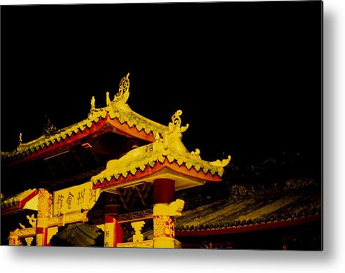 Ancient Metal Print featuring the photograph House Of Clan In Hoi An, Vietnam - by Veronique Durruty