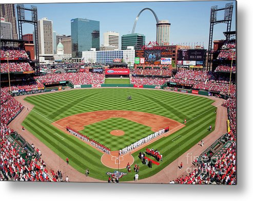 Opening Metal Print featuring the photograph Houston Astros V St. Louis Cardinals by Dilip Vishwanat