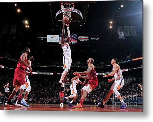 Nba Pro Basketball Metal Print featuring the photograph Houston Rockets V Phoenix Suns by Barry Gossage