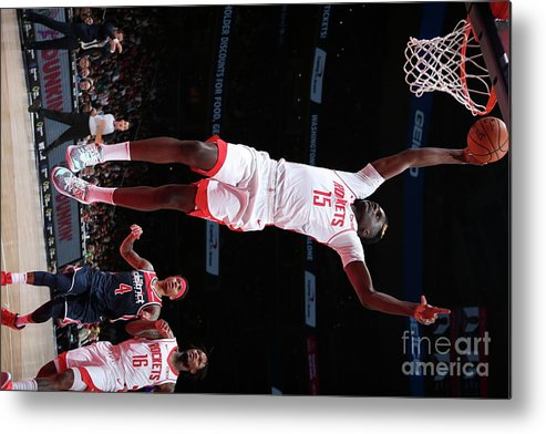 Nba Pro Basketball Metal Print featuring the photograph Houston Rockets V Washington Wizards by Ned Dishman