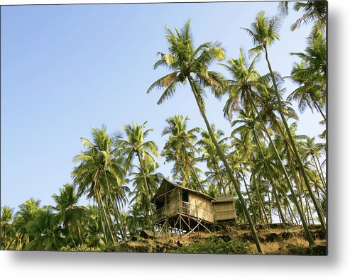 Scenics Metal Print featuring the photograph India, Goa, Beach Huts On Palolem by Sydney James