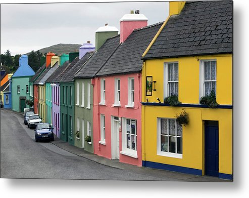 Row House Metal Print featuring the photograph Ireland, County Cork, Beara Peninsula by Glen Allison