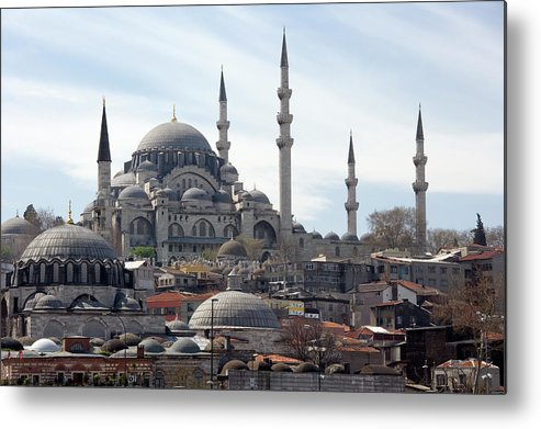 Istanbul Metal Print featuring the photograph Istanbul In Turkey by Steve Allen