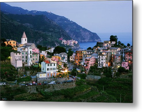 Outdoors Metal Print featuring the photograph Italy, Liguria, Corniglia With Manarola by Jeremy Woodhouse