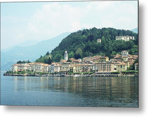 Outdoors Metal Print featuring the photograph Italy, Lombardy, Bellagio On Lake Como by Andy Sotiriou