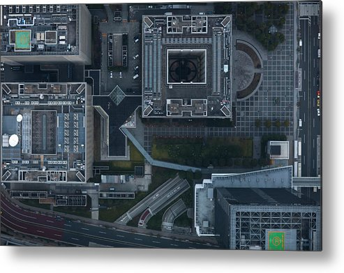 Two Lane Highway Metal Print featuring the photograph Japan, Tokyo, Aerial View Of Shinagawa by Michael H