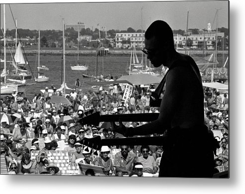 1980-1989 Metal Print featuring the photograph Jazz Musican At Newport Festival by Bettmann