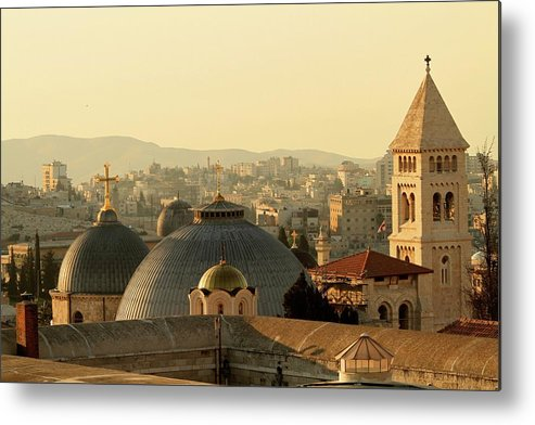 West Bank Metal Print featuring the photograph Jerusalem Churches On The Skyline by Picturejohn