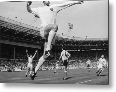 International Match Metal Print featuring the photograph Jumping Geoff by Central Press