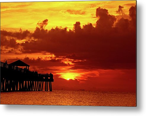 Juno Pier Metal Print featuring the photograph Juno Pier 1 by Steve DaPonte