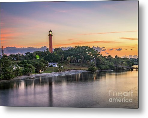 Scenics Metal Print featuring the photograph Jupiter Inlet Light House by Sean Pavone