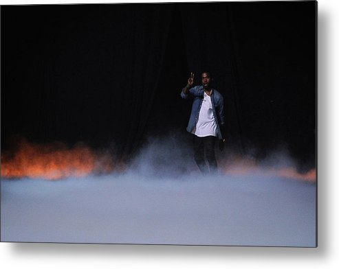 Kanye West - Musician Metal Print featuring the photograph Kanye West Show Runway - Paris Fashion by Pascal Le Segretain