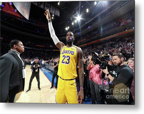 Thank You Metal Print featuring the photograph Kobe Bryant And Lebron James by Nathaniel S. Butler