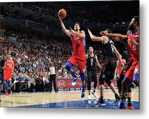 Nba Pro Basketball Metal Print featuring the photograph La Clippers V Philadelphia 76ers by Jesse D. Garrabrant