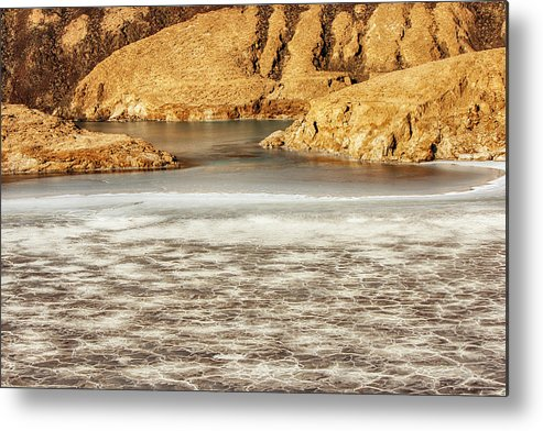 Scenics Metal Print featuring the photograph Lake Assal, Djibouti, Africa by Cultura Exclusive/romona Robbins Photography