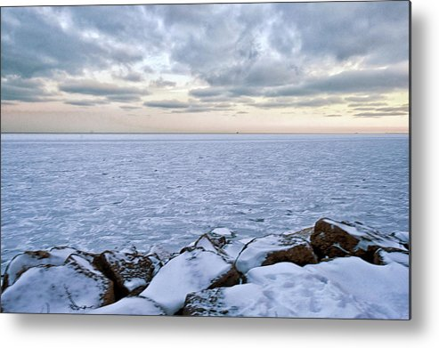 Tranquility Metal Print featuring the photograph Lake Michigan by By Ken Ilio