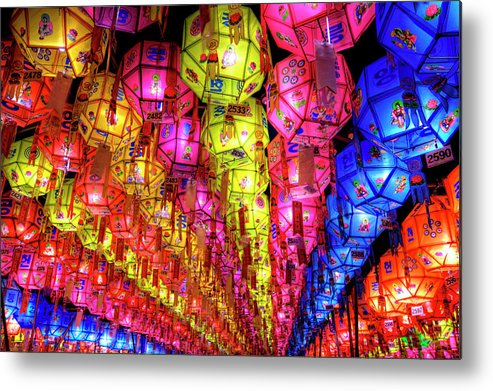 Tranquility Metal Print featuring the photograph Lanterns Hanging by Jason Teale Photography Www.jasonteale.com