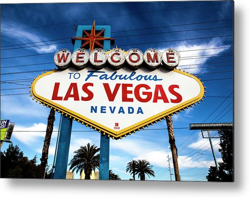 Outdoors Metal Print featuring the photograph Las Vegas by Aluma Images